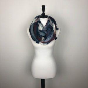LOFT Tassel Knit Fringe Infinty Scarf OS